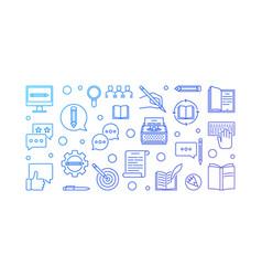 copywriter creative blue horizontal vector image