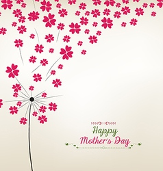 Dandelion hearts Greeting Card Mothers day vector image