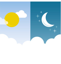 Day and night layout vector
