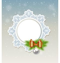 Decorative Christmas banner vector
