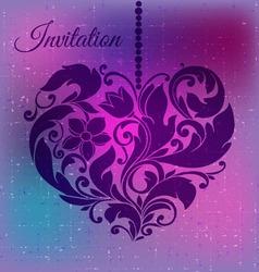 decorative ornamental heart vector image