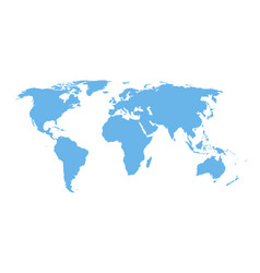 Detail world map - blue isolated design vector