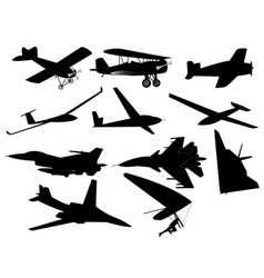 different planes vector image