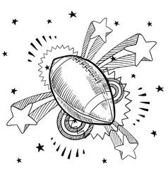 Doodle pop football american vector