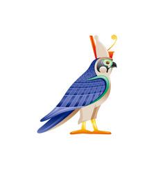 Egyptian falcon horus ra god symbol falcon bird vector