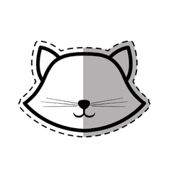 face cat breed animal mammal dot line shadow vector image