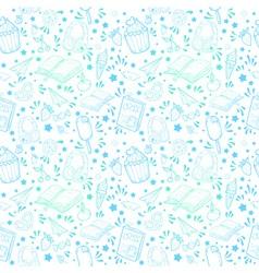 Festive summer seamless texture vector