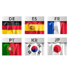 Flags in polygonal style vector