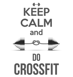 Flat design Keep Calm and do crossfit vector