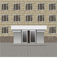 Front of building entrance vector