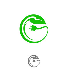 green eco electrical vector image