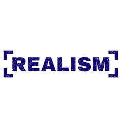 Grunge textured realism stamp seal between corners vector