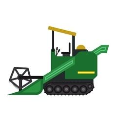 Harvester machine technic vector