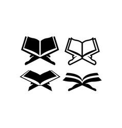 holy book quran icon design set bundle template vector image