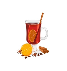 Hot mulled wine vector image