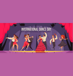 international dance day composition vector image