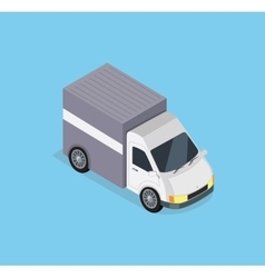 Isometric delivery car icon vector