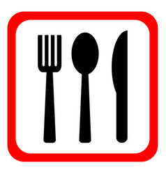 Knife fork and spoon on a white background vector