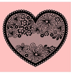 Lacy heart on pink background vector