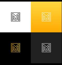 logo m linear logo of the letter m vector image