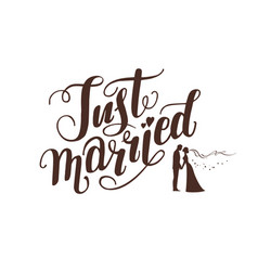 logo wedding lettering vector image