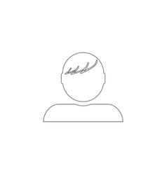 man profile flat icon vector image