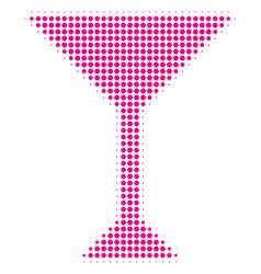 martini glass halftone icon vector image