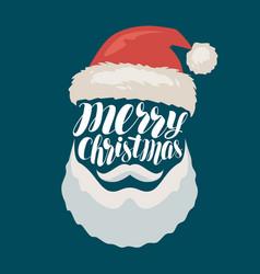 merry christmas banner or greeting card santa vector image