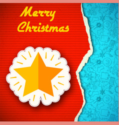 Merry christmas celebrating template vector