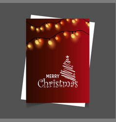 merry christmas lights background vector image