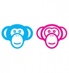 Monkey couple vector