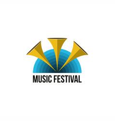 music festival logo vector image