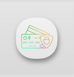 Nfc credit card app icon vector