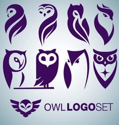 OWL LOGO SET vector image