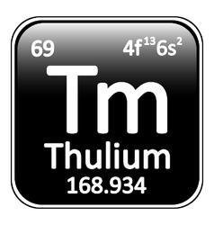 Periodic table element thulium icon vector