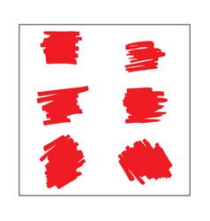 Red brush template design vector