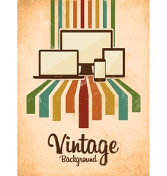 Retro vintage background vector
