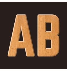 Sans serif geometric font vector