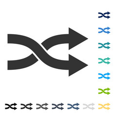 Shuffle arrows right icon vector