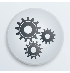 Simple icon with technology gears symbol vector