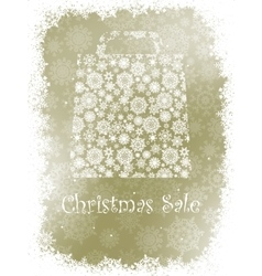 Snowflake gift bag on elegant background EPS 8 vector