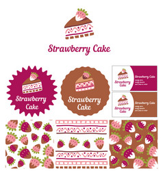 style for a candy store ready desserts and cakes vector image