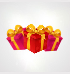 three presents light background with present vector image