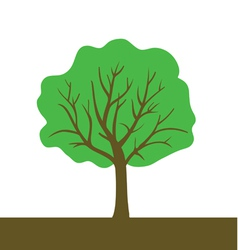 tree color vector image