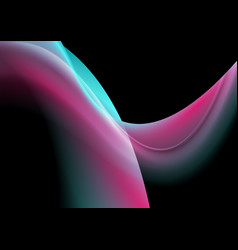 turquoise and purple flowing holographic dynamic vector image