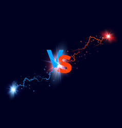 versus background blue and red forces lights with vector image