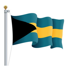 Waving bahamas flag isolated on a white background vector