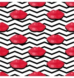 Womens Lips Seamless Pattern vector image
