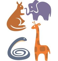 zoo set vector image
