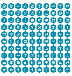 100 boxing icons sapphirine violet vector image vector image